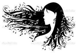 girl with music hair
